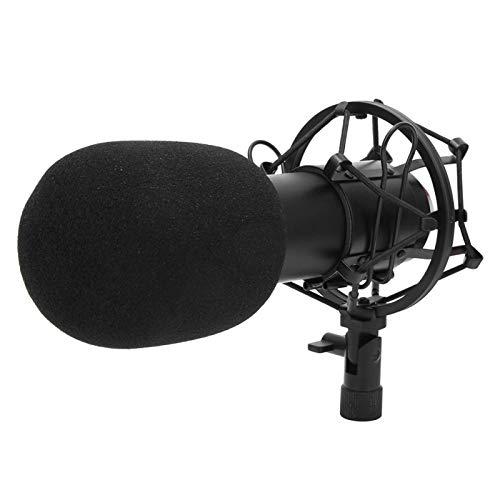 Pwshymi Micrófono de transmisión de Instrumentos Musicales Duradero para Karaoke por Internet para transmisión de Radio para Cantantes