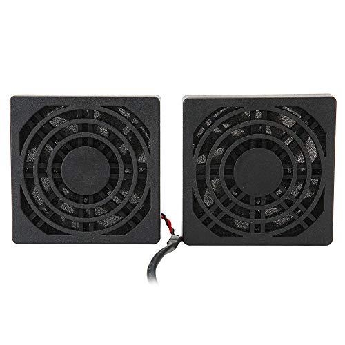 Dpofirs Caja de Ventilador Dual de Enfriamiento para Enrutadores, 5 V USB...