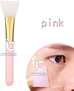 ICYCHEER Silicone Facial Mask Brush Hairless Face Mask Brush Makeup Applicator Brush Mask Mud Brush Tools Mask Applicator Makeup Cosmetic Brush (pink)