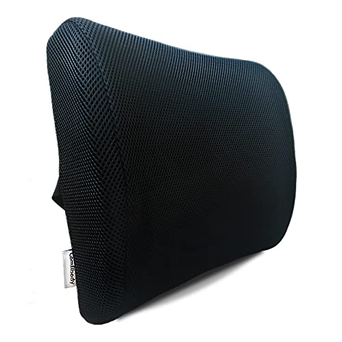 Lumbar Support for Office Chair with Free Bonus Pen - Lower Back Support - Lumbar Support Cushion - Back Support for Office Chair - Sciatica Pain Relief - Computer Chair Back Support