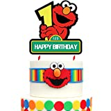 1 Elmo Cake Topper 1st Birthday Cake Decorations for Bday Party