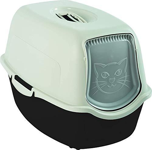 Rotho Mypet Bailey Cassetta per Rifiuti con Cappuccio e Sportello, Plastica (PP) Senza BPA, Antracite/Bianco, 56.0 X 40.0 X 39.0 cm