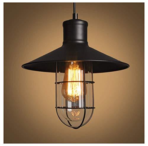 Moderna lampada a sospensione Vintage Ristorante Lampadario Bar Iron Fence Bird Cage Explosion Illuminazione a soffitto Soggiorno Camera da letto Bar - Nero