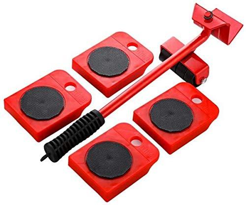 genneric 5Pcs bewegliches Umräumen Gerät mit 4 Stück bewegen Sliders, Max for 150kg / 330 LB, 360 Grad drehbar Pads