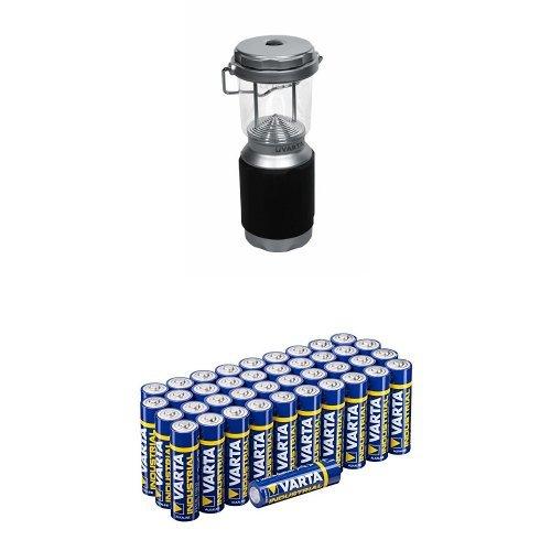 Varta 8x 5mm LED XS Campinglampe mit Varta Batterien Mignon AA LR6 Vorratspack 40 Stück