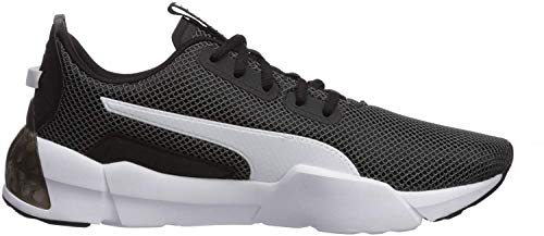 PUMA Men's Cell Phase Sneaker, Black White, 10 M US