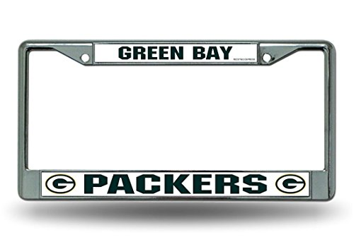 NFL Rico Industries Standard Chrome License Plate Frame, Green Bay Packers