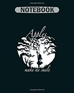 Notebook: apples pixel art - 50 sheets, 100 pages - 8 x 10 inches
