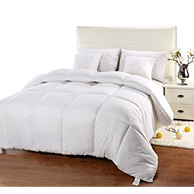 Utopia Bedding Ultra Plush Hypoallergenic, Siliconized fiberfill, Box Stitched Alternative Comforter, Duvet Insert, Protects Against Dust Mites Allergens (King 90 x 102 inch)