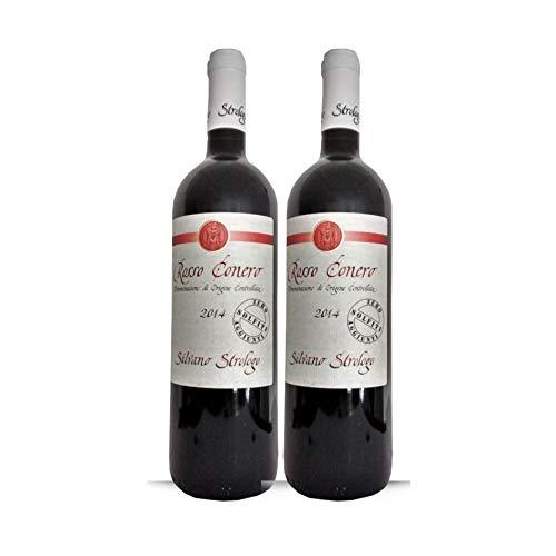2x Vino Tinto Rosso Conero doc Zero Solfiti, botella 75 cl, Cantina Strologo, Camerano, Ancona, Regione Marche, Italy