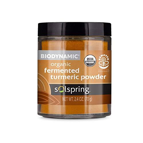 SolspringTM Biodynamic® Biologisch gefermenteerd kurkuma poeder (2.40 Oz.)