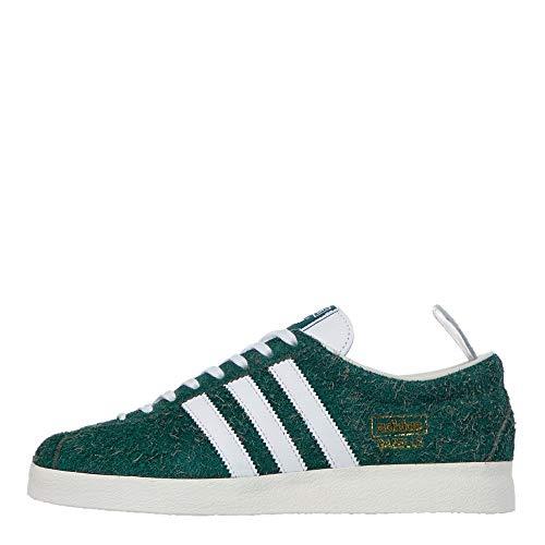 adidas Originals Gazelle Vintage, Collegiate Green-Footwear White-Off White, 9