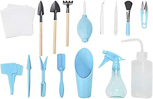 Sukkulenten-Werkzeug,16 Stück Gartenwerkzeug Set,Mini-Garten-Pflanzwerkzeug-Set, Bonsai Werkzeug für Sukkulenten, Minigärten im Innenbereich