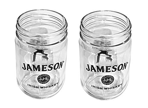 Jameson Whiskey Mason Jar Glass Set of 2