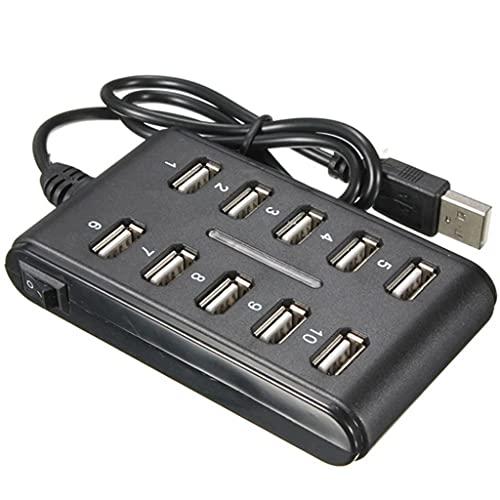 YWSZJ Alta Velocidad 480 MBPS USB 2.0 HUB 10 Port MULTIS Personal COMPUTADOR USB HUB Portal DE USB Portal
