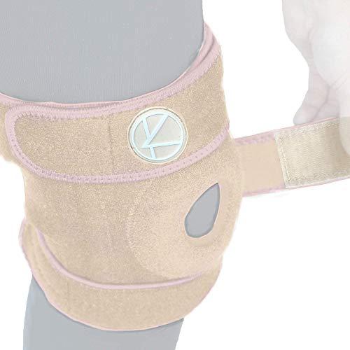 Adjustable Knee Brace Support - Plus Size Knee Brace for ACL, MCL, LCL, Sports, Meniscus Tear. Open Patella Knee Brace for Arthritis Pain and Support for Women, Men, Youth (4XL / 5XL / 6XL Nude)