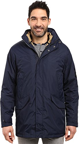 IZOD Men's Insulated 3-In-1 Parka with Zip Out Inner Jacket, Midnight, Medium