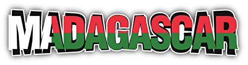 novland Autoaufkleber mit Madagaskar-Flagge & Slogan, 20,3 x 5,1 cm
