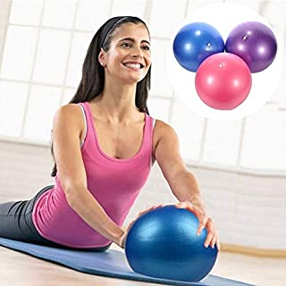 ZOUJIN Bola Gym 25cm Mini Yoga Ball Pilates Yoga Ball (Color : Blue)
