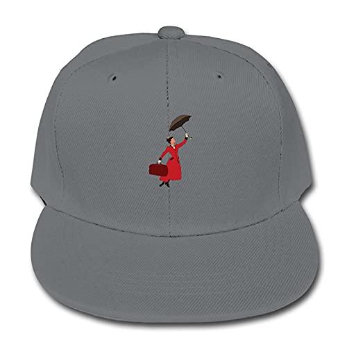 Mary Poppins Gorra de béisbol Sombrero Ajustable de Color sólido Lindo Niños Girlsteenagers Negro