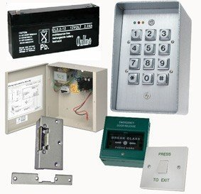 TC232 – controleset voor deurtoegang, cijferblok, elektrische deurvergrendeling, schuiven om uit te trekken