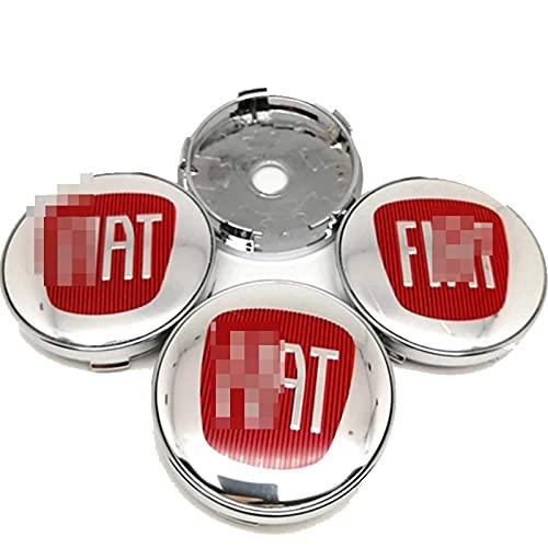 4 Pezzi Adesivo Stemma 3D Tappi Centrali Per Fiat 500 500L 500X 124 Bravo Freemont, Copertura Centrale Adesivi Coprimozzo Copriruota Logo Protezione Solare Impermeabile Accessori Styling Auto, 60MM