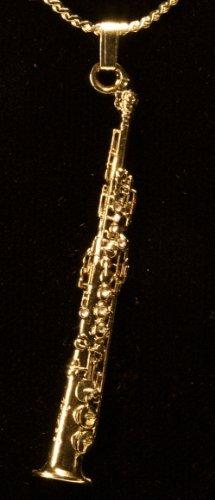 セルマー・パリ マーク6 (Mark VI) ソプラノ サックス (サキソフォン) ネックレス ゴールド Selmer Mark VI Soprano Sax 24K Gold Plated Necklace 576