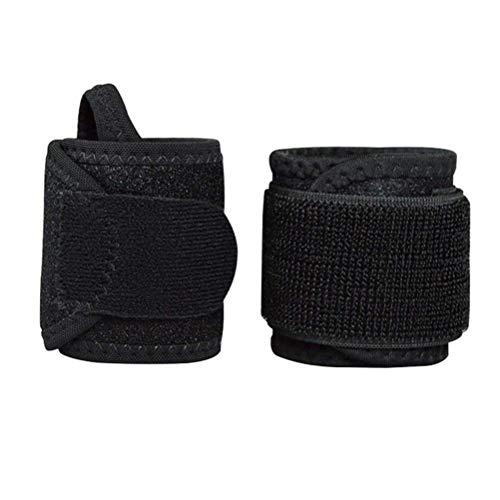 BESPORTBLE 2 stücke Handgelenkstütze Einstellbar Bandage Männer Frauen Anti-Verstauchung Fitness Sport Schutz Handgelenkgurte Sport Sicherheit Fitness (Schwarz)