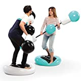 SHARPER IMAGE Inflatable Push Bumpers Sparring for 2 Players, Train, Play and Spar, Indoor Outdoor Pedestal Sport Combat, Fun Party Game for Adults, Bouncy Combat, Backyard, Park or Beach