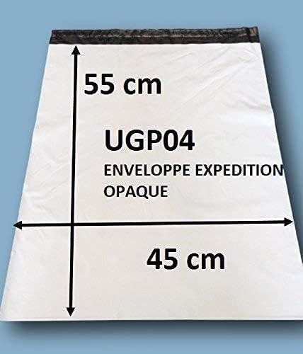 Enveloppes plastique blanches opaques 450 x 550 mm, pochettes d'expédition 45x55 cm 60 microns. Enveloppe plastique 4...
