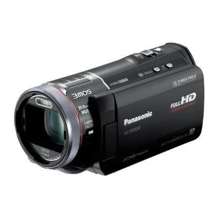 パナソニック デジタルハイビジョンビデオカメラ X900 内蔵メモリー64GB 3MOS ブラック HC-X900M-K