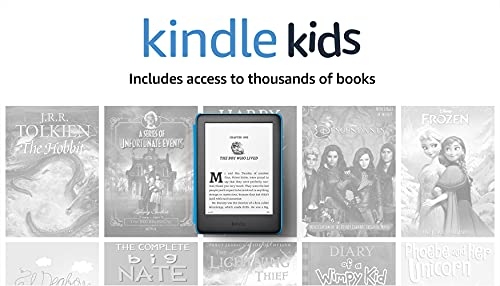 Kindle Kids, a Kindle designed for kids, with parental controls - Blue Cover