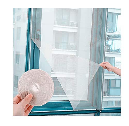 NAUTICALMANIA - Mosquitera Ventana Universal Autoadhesiva - Lavable y Reutilizable - Ajustable al Tamaño de la Ventana - Protección Anti mosquitos - 150x180 cm (Blanco)
