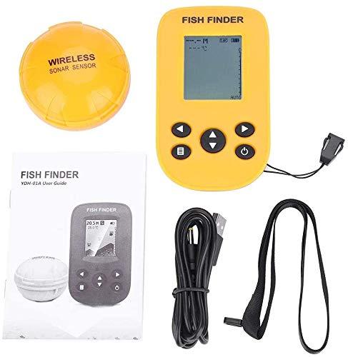 Empty Inalámbrico buscador de los Pescados, 125 KHz de frecuencia inalámbrica Sonar de Pesca bajo el Agua del Sensor transductor de Pesca Buscador