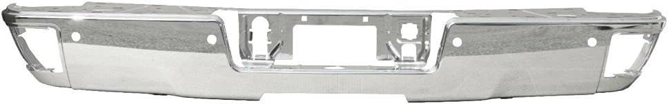 Autocity Chrome Steel Rear Bumper Face Sierra For specialty shop Bar Silverado Las Vegas Mall