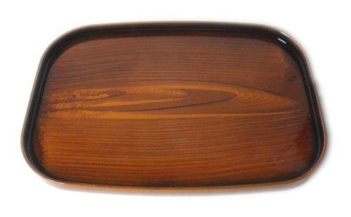 橋本達之助工芸 チークトレー 36cm長 (日本の手作りの逸品です) チーク柄
