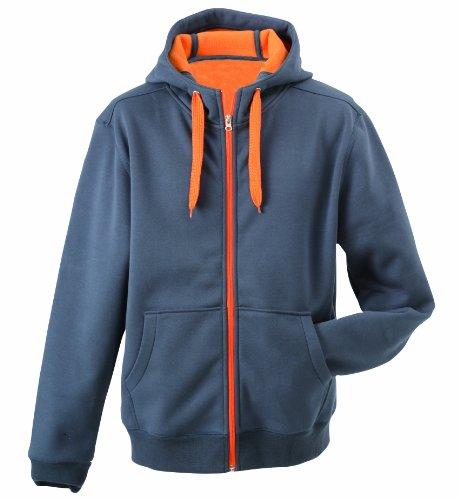 James & Nicholson Herren Doubleface Jacket Jacke, Grau (Carbon/orange), XXX-Large
