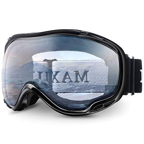 N\A Gafas de esquí Googles DE SKI PROTECCIÓN UV Anti-Niebla Gafas de Nieve for Hombres Mujeres M1 Gafas de Snowboard de esquí (Color : C4 Clear)