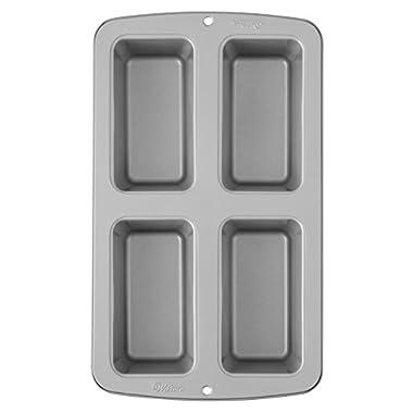 Wilton Recipe Right Non-Stick Mini Loaf Pan, 4-Cavity (2105-9101)