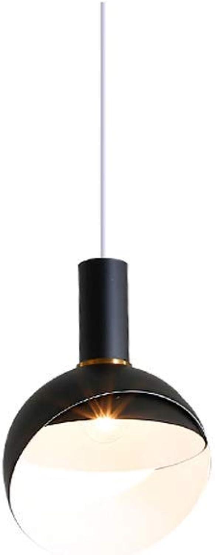 ZHANG NAN ● Modernes minimalistisches Restaurant Kronleuchter Macaron Bonbonfarben Deckenpendelleuchte Esstisch Nordic Kreative Persnlichkeit Bar Cafe Droplight E27 (Farbe  Schwarz) ●