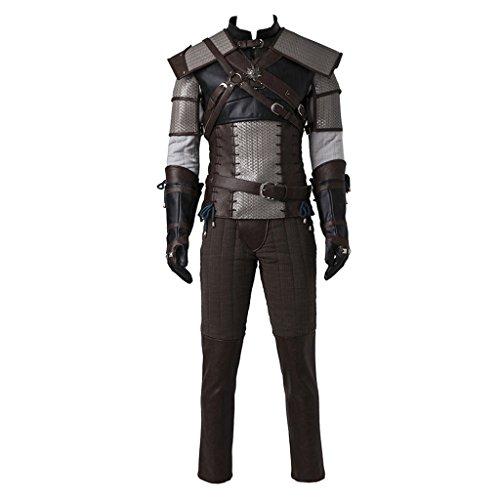 CosplayDiy Men's Suit for The Witcher 3 Wild Hunt Geralt of Rivia Cosplay L