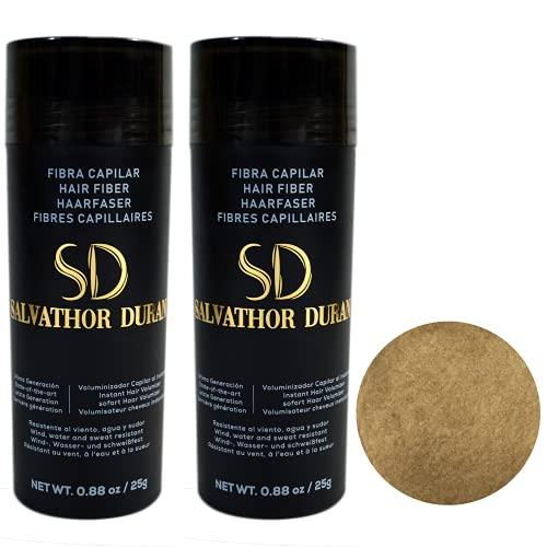 Fibres Capilaires Salvathor Duran 25 grammes – Pack Duo - Fibre de Cheveux (Blond Clair)