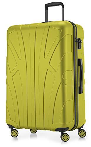 Suitline - Maleta rígida, Equipaje de Viaje, TSA, 76 cm, Aprox. 96 litros, 100% ABS Mate, Helecho