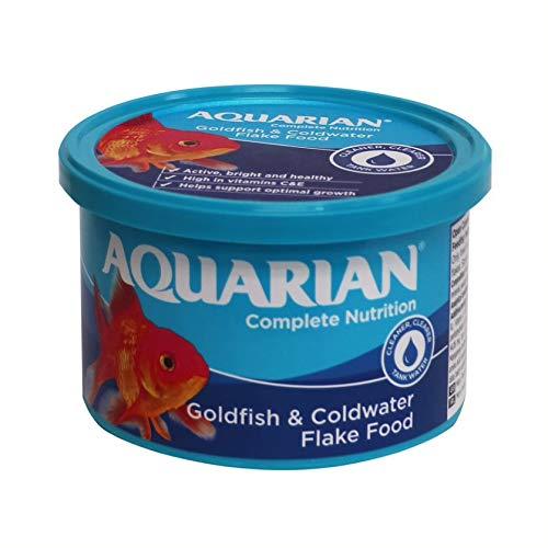 AQUARIAN Complete Nutrition, Aquarium Goldfish Food, Flakes...