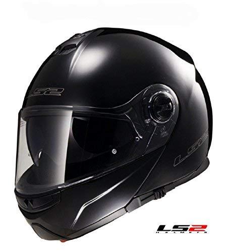 LS2 FF325 Strobe Flip Up Casco de Moto Negro, Blanco, Hi Viz Nuevo para 2019,...