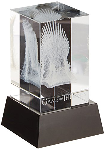 Dark Horse Comics Juego de Tronos Bloc de Cristal cubique 3D LED Iron Throne 8 cm