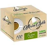 ODC MADE IN ITALY 100 PODS DE CAPSULAS COMPOSTABLES Te Negro Limon COMPATIBLE CON LA MÁQUINA DE CAFÉ NESPRESSO. ¡10 paquetes que contienen 10 piezas para salvaguardar la frescura!