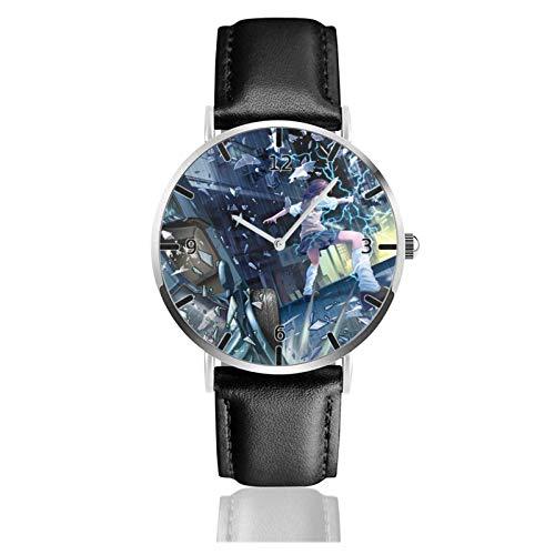Los niños Miran Reloj Pulsera niño Historieta 3D Impermeable Toaru Majutsu no Index Pantalla Redonda 38mm Batería de botón Poder Unisex Watch