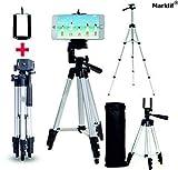 Marklif Adjustable Aluminium Alloy Tripod Stand Holder for Mobile Phones & Camera, 360