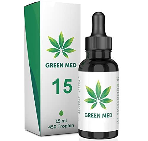 GREEN MED ® | 15 Prozent - Oil | Premium Hanfsamenöl | 100% Natürlich | 100% Wirksam | Made in Germany